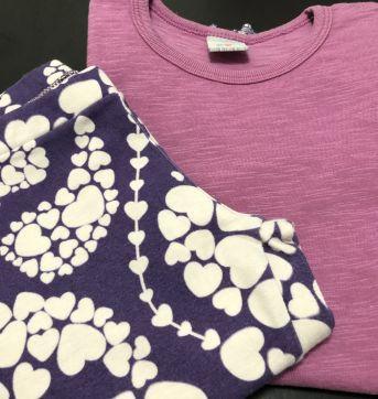 Conjunto - Camiseta manga longa com babados + calça cotton capri - PUC - 6 anos - PUC