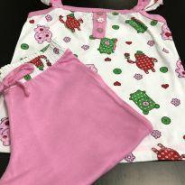 Pijama - Alças com babados + capri - Mensageiro dos Sonhos - 4 anos - Mensageiro dos Sonhos