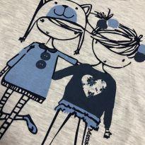 """Pijama - Manga longa """"amigas"""" + calça estampada - Mensageiro dos Sonhos - 8 anos - Mensageiro dos Sonhos"""