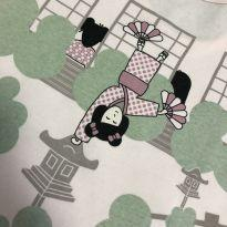 Pijama - Manga curta com estampa japonesas - Dedeka - 8 anos - Dedeka