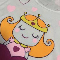 """Pijama - Manga curta """"Princesa e o Sapo"""" + shorts estampa corações - GET baby - 10 anos - Get Baby"""