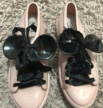 Tênis - Coleção Minnie Mouse - Orelhas removíveis + cadarço cetim - Melissa - 33 - Melissa