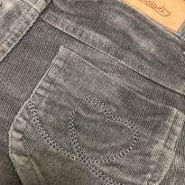 Calça veludo baixo cinza - Cintura Ajustável - Marisol - 8 anos - Marisol