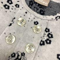 Vestido estampado plush manga longa - Milon - 6 meses - Milon