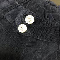 Calça veludo azul marinho com babado - Cintura Ajustável - Marisol - 8 anos - Marisol
