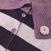 Casaco linha - abertura frontal botões e gola sobreposta - Marisol - 4 anos - Marisol