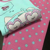 Pijama - Manga longa peluciado + calça estampada bolinhas - Acessories - 14 anos - Renner