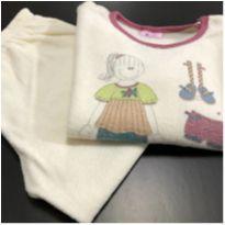 Pijama - Fleece - Manga longa + calça lisa bege  - Sonhart - 2 anos - Sonhart