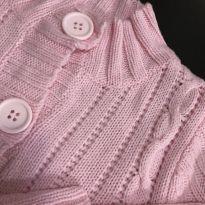 Casado lã leve - Abertura frontal botões rosa claro - Baby Club - 2 anos - Baby Club