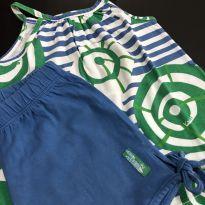 Conjunto - Regata estampada algodão + shorts - Green - 3 anos - Green