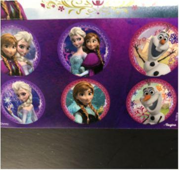Let´s Celebrate - Party (Frozen) - Stickers (tags) adesivas redondo e retangular - Sem faixa etaria - Nacional