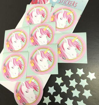 Let´s Celebrate - Party (Unicornio) - Stickers (Tag) adesivas - Sem faixa etaria - Importada