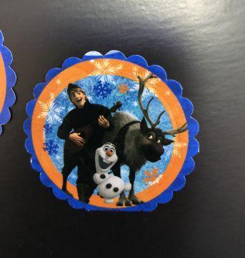 Let´s Celebrate - Party (Frozen) - Stickers (tag) adesivo redondo - Sem faixa etaria - Nacional