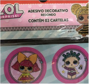 Let´s Celebrate - Party (LOL) - Stickers (tags) adesivas redondo - Sem faixa etaria - Nacional