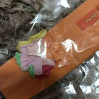 Faixa de Cabelo - Cotton Laranja com aplique flor - Baby - Lilica Ripilica -  - Lilica Ripilica