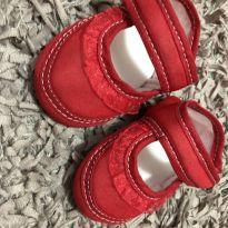 Sapatilha Bebe - Vermelha - K´Anjos - Tam: P - 13 - Desconhecida
