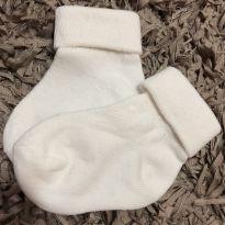 Meia algodão lisa branca - Tam 9 a 18 meses - 18 meses - Desconhecida