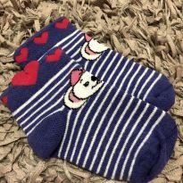 Meia algodão Listrada com corações - Lilica Ripilica Baby - Tam 9 a 18 meses - 18 meses - Lilica Ripilica