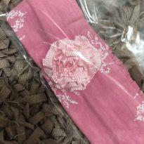 Faixa de Cabelo - Algodão estampado floral com aplique flor - Beth Bebe -  - Desconhecida
