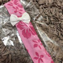 Faixa de Cabelo - Cotton estampado com aplique laço -  - Desconhecida