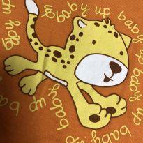 Macação bebe - Manga longa - Estampa tigre - Up Baby - 9 a 12 meses - Up Baby