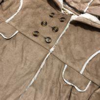 Sobretudo - Estilo bata com abertura botões e capuz fixo - Poim - 3 anos - Desconhecida