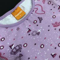 Body - Cotton estampado com manga estilo japonesa - Marisol - 6 anos - Marisol