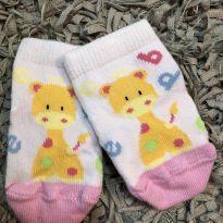 Meia - Bebe com estampa Girafa - Puket - Tam 0-3m - 0 a 3 meses - Puket