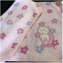 Cobertor - Bebe - Fleece Estampado Floral Gatinho Baby  (0,75x0,75) -  - Desconhecida