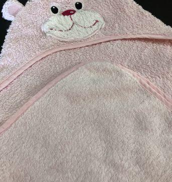Toalha Banho - Bebe - Atoalhada com capu fixo - Ursinho - George - Sem faixa etaria - George