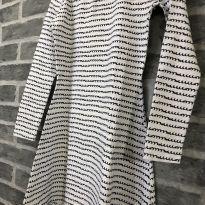 Vestido - M/L Estampado cotton estilo trapezio - Elian (Tam 16) - Único - Elian