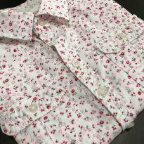 Camisa M/L - Estampada floral com botoes e bolsos frontais - YoYo Kids - 6 anos - YOYO KIDS