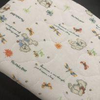 Cobertor - Berço/Mini Cama - Malha algodão estampado ursinhos Bege - Zelo -  - Zelo