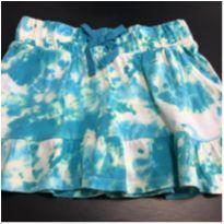 Mini Saia - Shorts interno - Babados e cintura elástico Azul - Circo - 6 anos - Circo