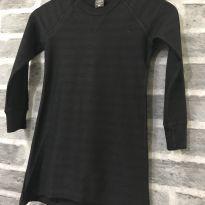 Vestido - M/L algodão liso preto - Hering Kids - 6 anos - Hering Kids