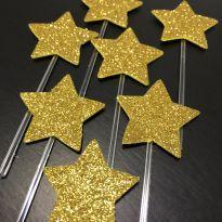 Let´s Celebrate - Topper cupcake/docinho estrela EVA Glitter (1) - Little ME -  - Little Me