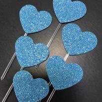 Let´s Celebrate - Topper cupcake/docinho coracao EVA Glitter (1) - Little ME -  - Little Me