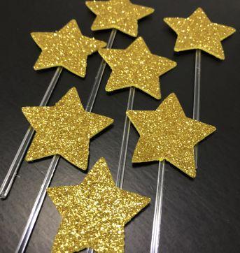 Let´s Celebrate - Topper cupcake/docinho estrela EVA Glitter (3) - Little ME - Sem faixa etaria - Little Me