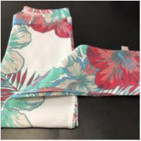 Calça - Capri cotton estampada floral - PUC - 10 anos - PUC