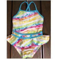 Linha Praia - Maio infantil - Listrado com estampa floral - OP - 2 anos - OP
