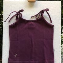 Regata - Cotton lisa com detalhe brilho e alça amarração - Marisol - 8 anos - Marisol