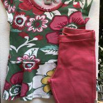Conjunto - M/C - Camiseta cotton com babados + ciclista cotton - PUC - 8 anos - PUC