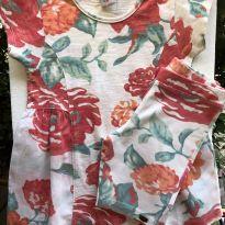 Conjunto - M/C - Camiseta estilo bata com tecido lateral + shorts cotton - PUC - 6 anos - PUC