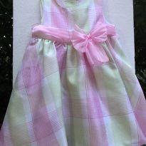 Linha festa - Vestido em tecido xadrez e laço - Rare Editions - 18 meses - Rare Editions