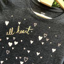 Camiseta M/C - Mescla super soft ALL HEART arredondado - Old Navy - 14 anos - Old Navy