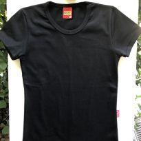 Camiseta M/C - Basica preta - Kyly - 10 anos - Kyly