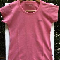 Camiseta M/C - Cotton leve básica lisa salmão - PUC - 14 anos - PUC