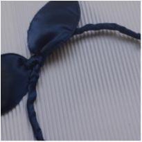 Tiara - Metal revestida em cetim azul marinho -  - Desconhecida
