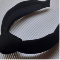 Tiara - Larga estilo nó revestida tecido listras - preto -  - Desconhecida