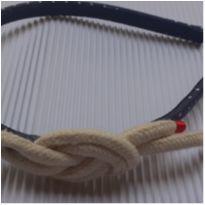 Tiara - Revestida tecido poa com nó Navy Lateral -  - Desconhecida